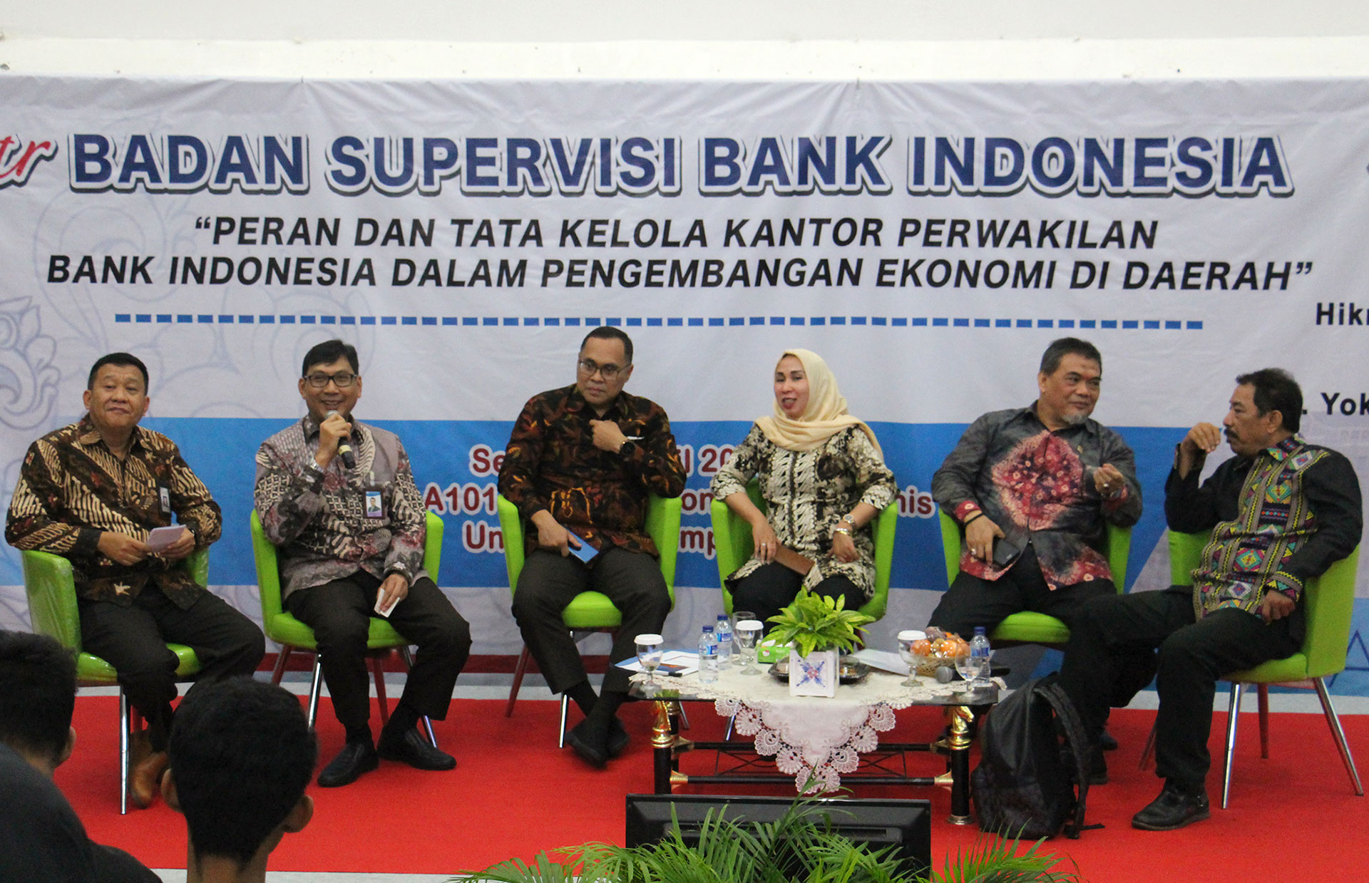 FEB Unila-BI Supervision Agency Discusses Lampung Economic Development