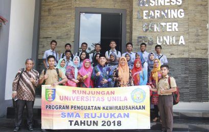 Strengthening the Entrepreneurship, SMAN 2 Bandar Lampung gave a visit to FEB UNILA