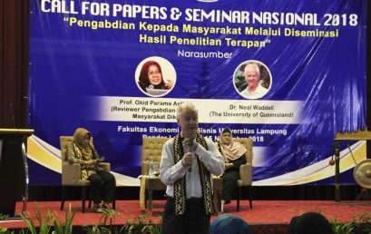 Call For Papers dan Seminar Nasional FEB Unila 2018 Sukses Digelar