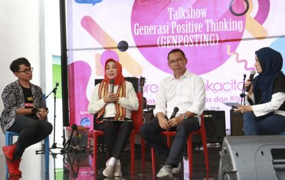"The Ministry of Communication and Information Cooperates with FEB Unila Holds Talkshow; ""Generation of Positive Thinking"""