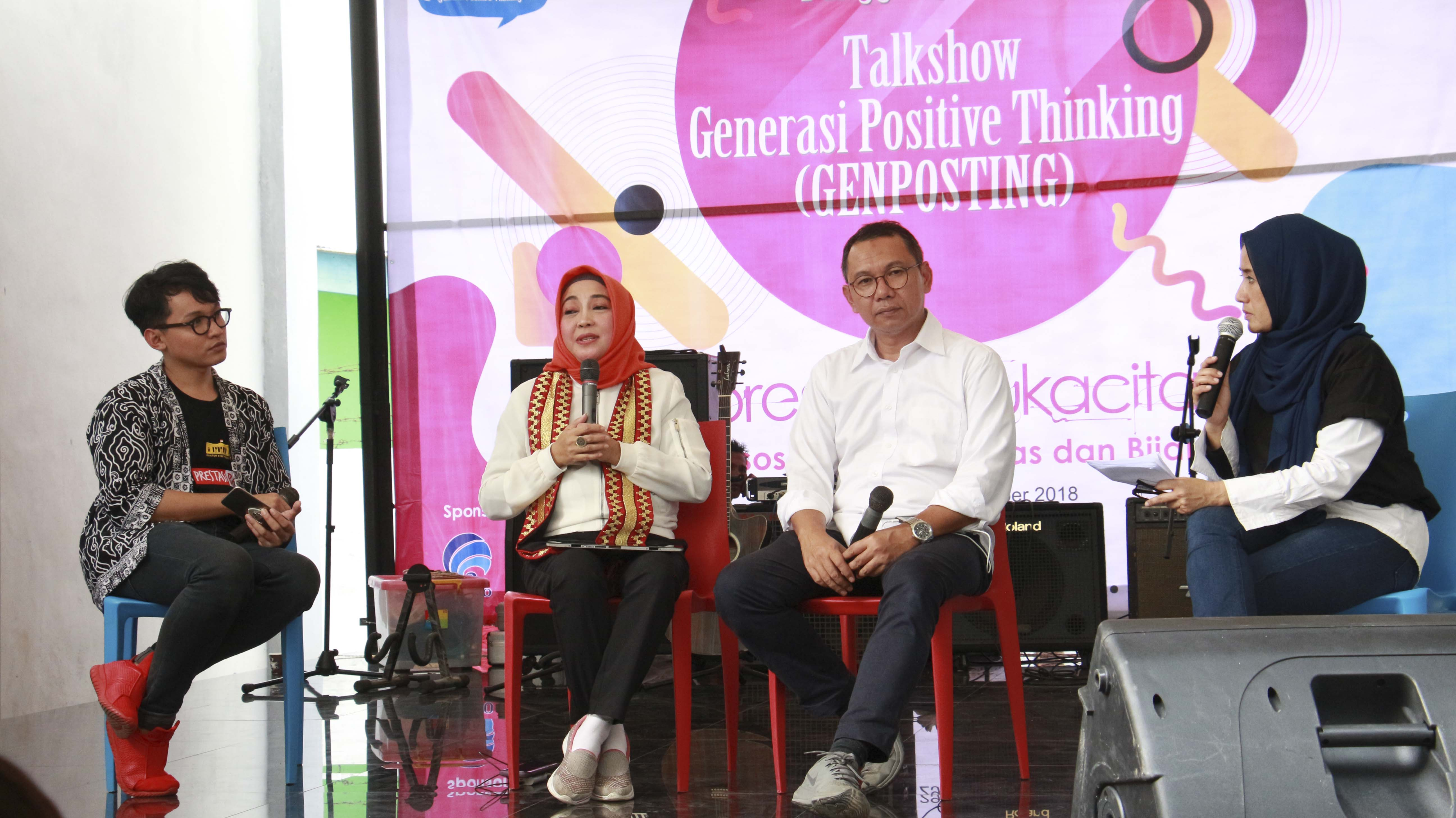 """The Ministry of Communication and Information Cooperates with FEB Unila Holds Talkshow; """"Generation of Positive Thinking"""""""