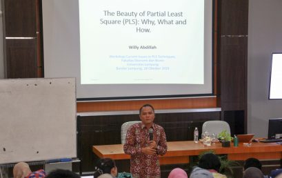 FEB Unila Postgraduate Program Holds Partial Workshop on Least Square (PLS)