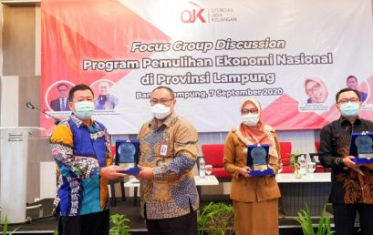 """FGD OJK """"National Economic Recovery Program in Lampung Province"""""""